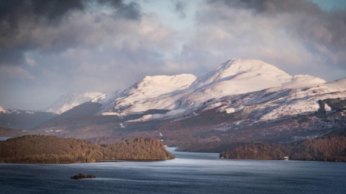 Ben Lomond in Winter Coat, Alan Cameron