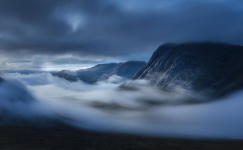 Devils Staircase Night Clouds, Spike Hughes